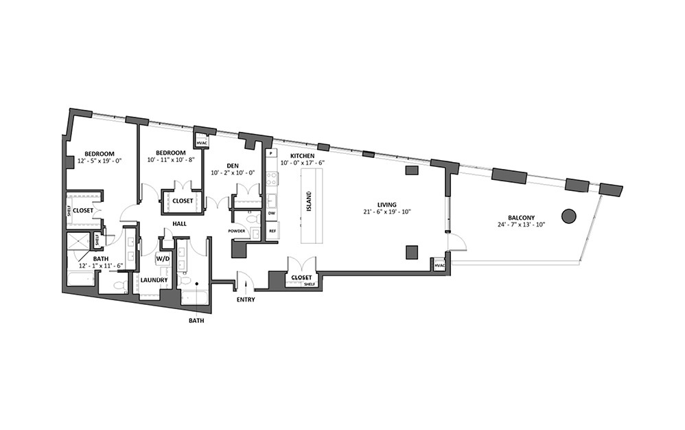 Dilettante 14 2 Bed 2 Bath Floorplan